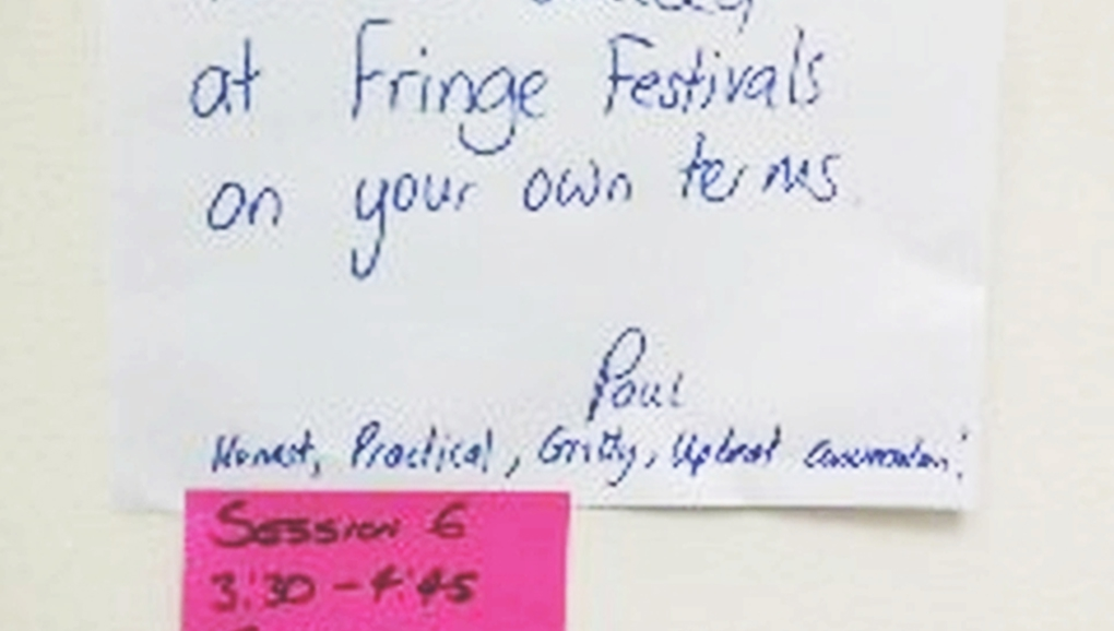 How to succeed at Fringe Festivals on your own terms.