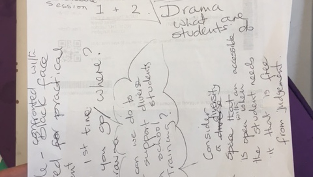 Who needs to change? - Diversity/inclusivity in drama schools.